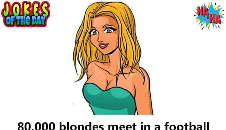 "80,000 blondes meet in a football stadium for a ""Blondes Are Not Stupid"" Convention"