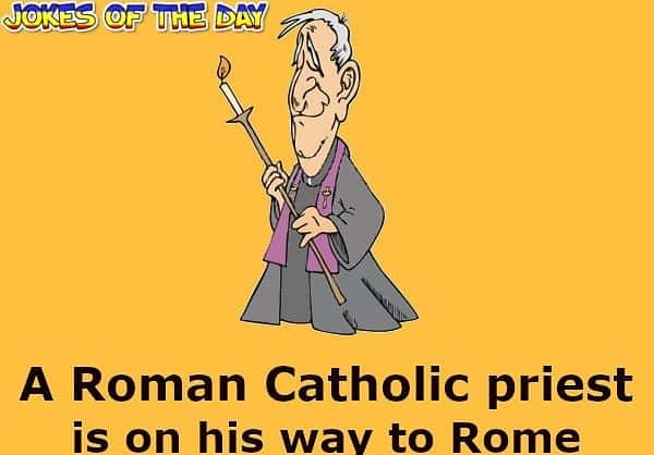 The priest promises to light a candle for her - Funny Joke - Jokesoftheday com
